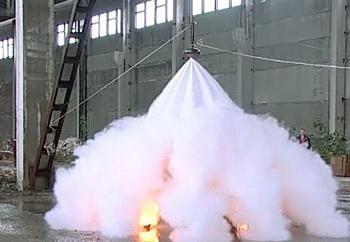 Установка систем порошкового пожаротушения